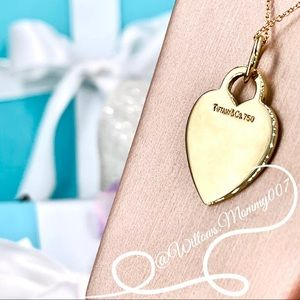 Tiffany & Co. 18k Gold Medium Heart Tag Charm